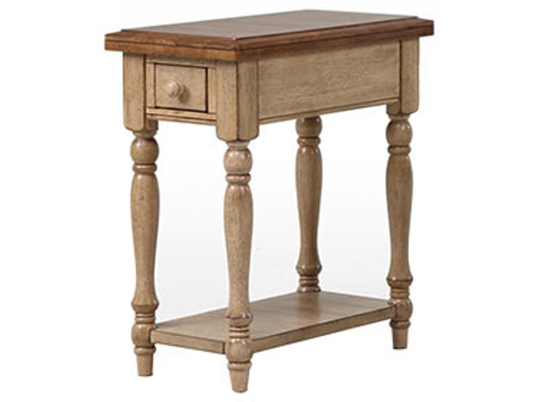 Quails Run Almond/Wheat Small End Table