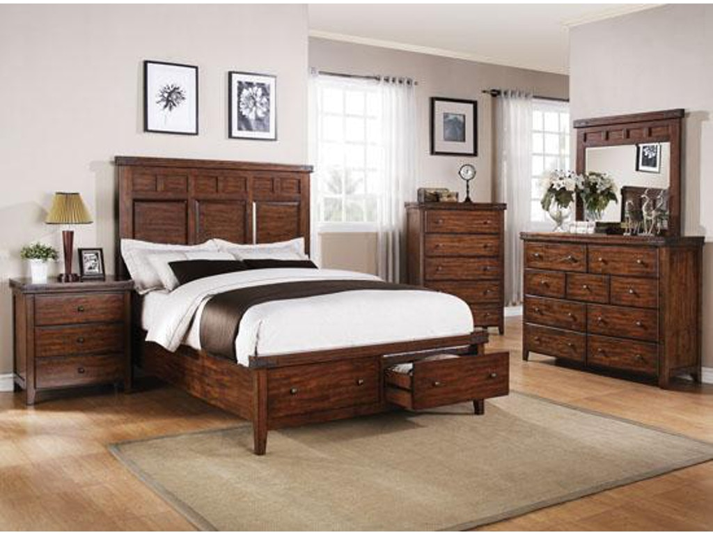 Winners only bedroom mango storage bed bmg1001qs hickory for Bedroom furniture hickory nc