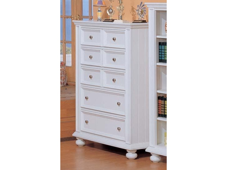 Winners Only Youth Bedroom Chest 5 Drawer Cape Cod White 198610 ...
