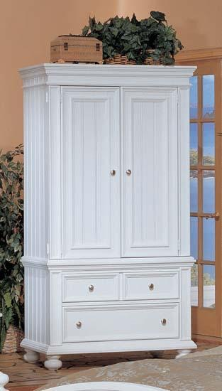 Winners Only Cape Cod White Armoire BP1008ABN White Armoire With Drawers P26
