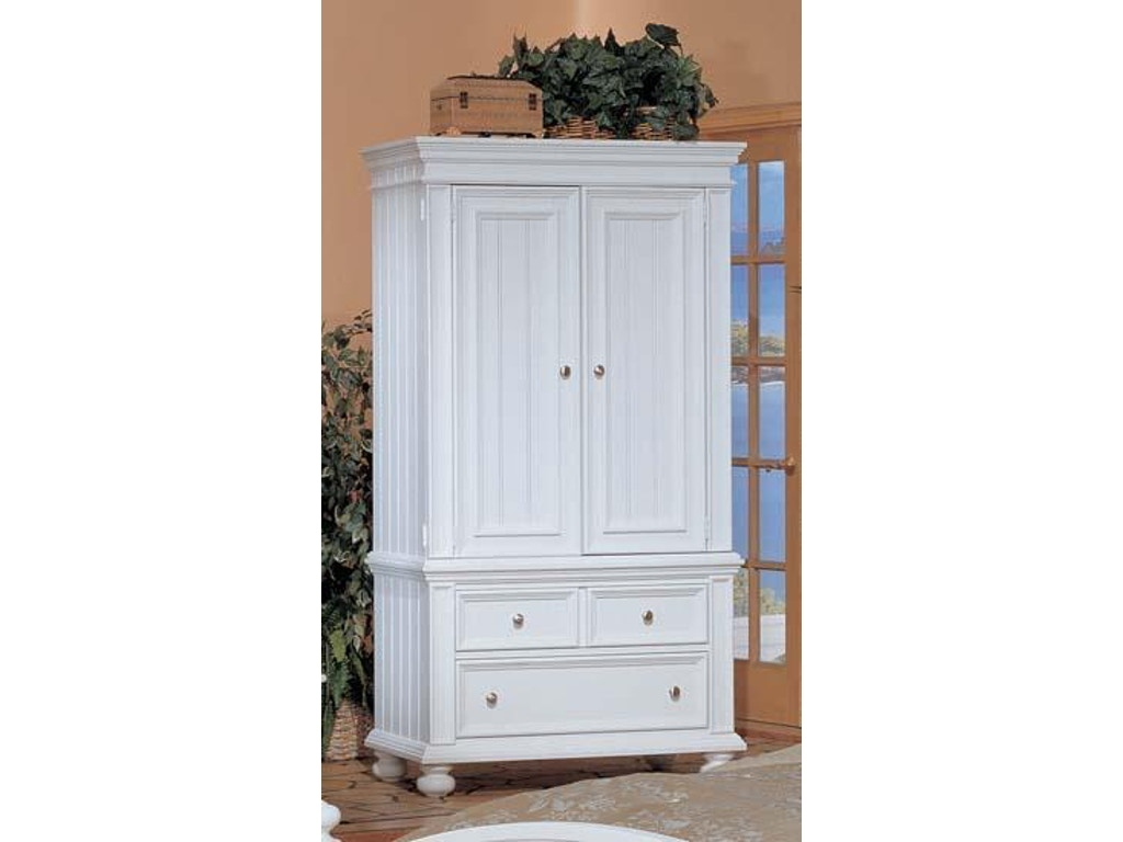 winners only bedroom cape cod white armoire bp1008abn. Black Bedroom Furniture Sets. Home Design Ideas