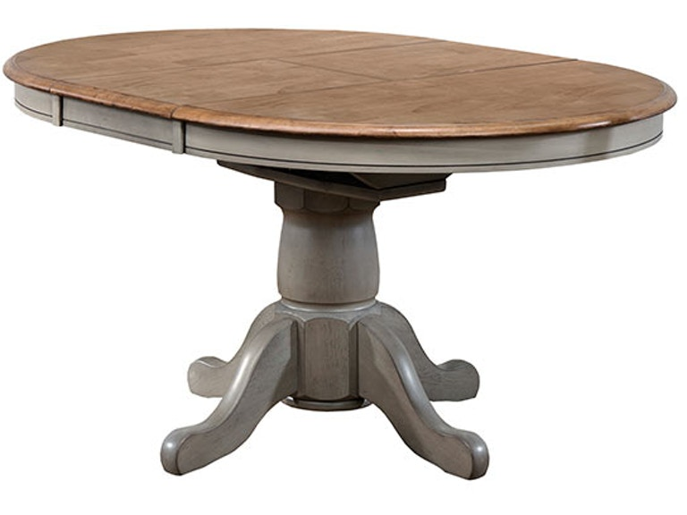 Pedestal Table With 15 inches Butterfly Leaf