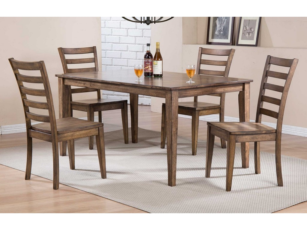 Dining room 60 inches leg table dc33660r osmond designs for 60s table design