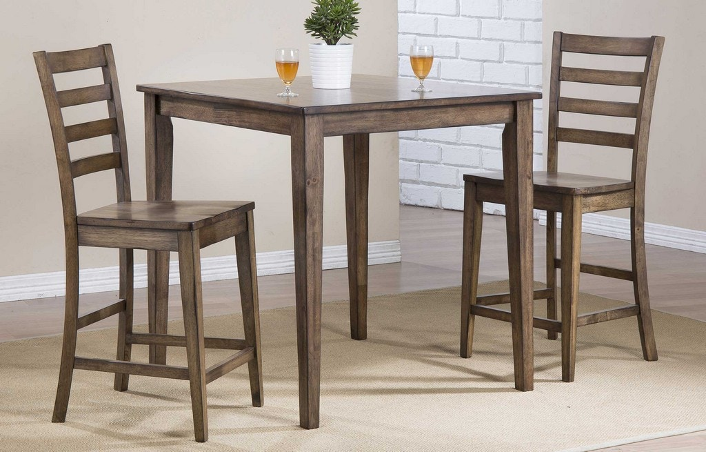 Winners Only Carmel Rustic Brown 36 Square Tall Table Dct33636r Portland Or Key Home