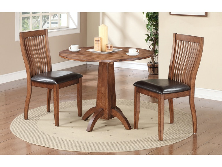 Winners Only 40 Inches Round Table With 2 Chairs DFB14040 Set