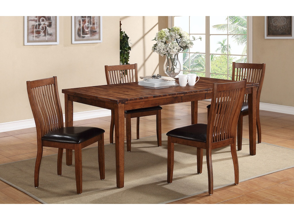 Winners only dining room 72 inches leg table dfb14072 for Dining room tables 72 inches