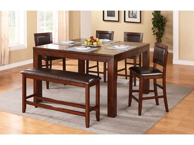 Winners Only Dining Room 60 Inches Tall Leg Table With 12 Inches
