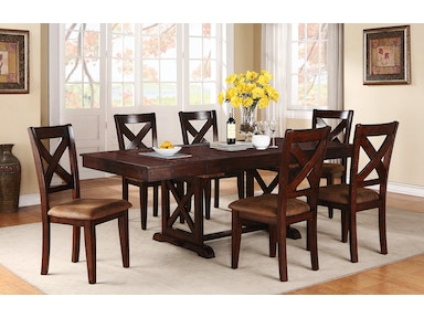 Winners Only 95 Inches Trestle Table With 2-12 Inches Butterfly Leaves DJ14094