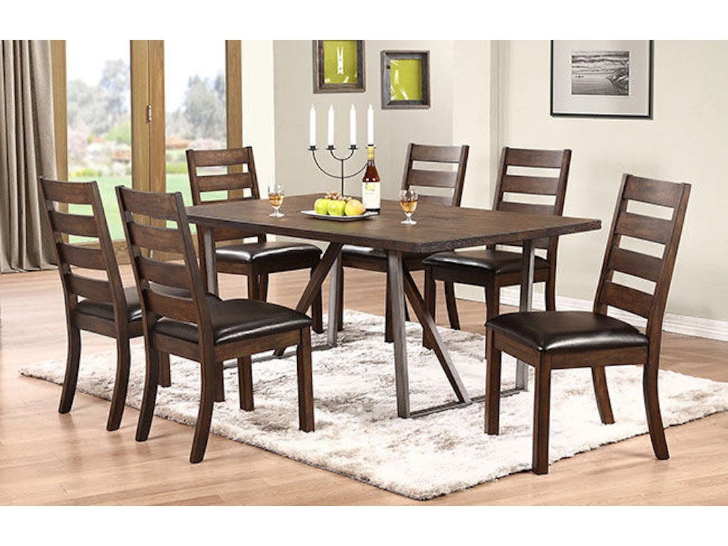 Winners only dining room 72 inches trestle table dk24072 for Dining room tables 72 inches