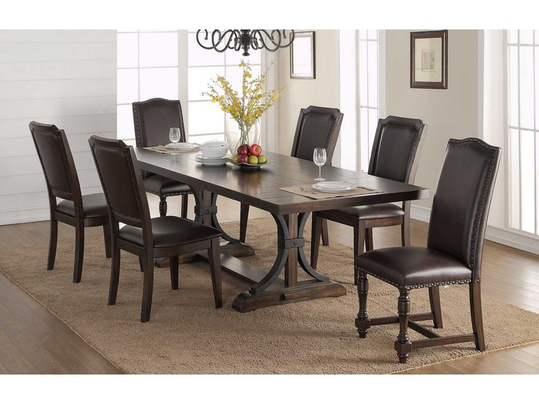 Winners Only Dining Room 102 Inches Pedestal Table DM240102