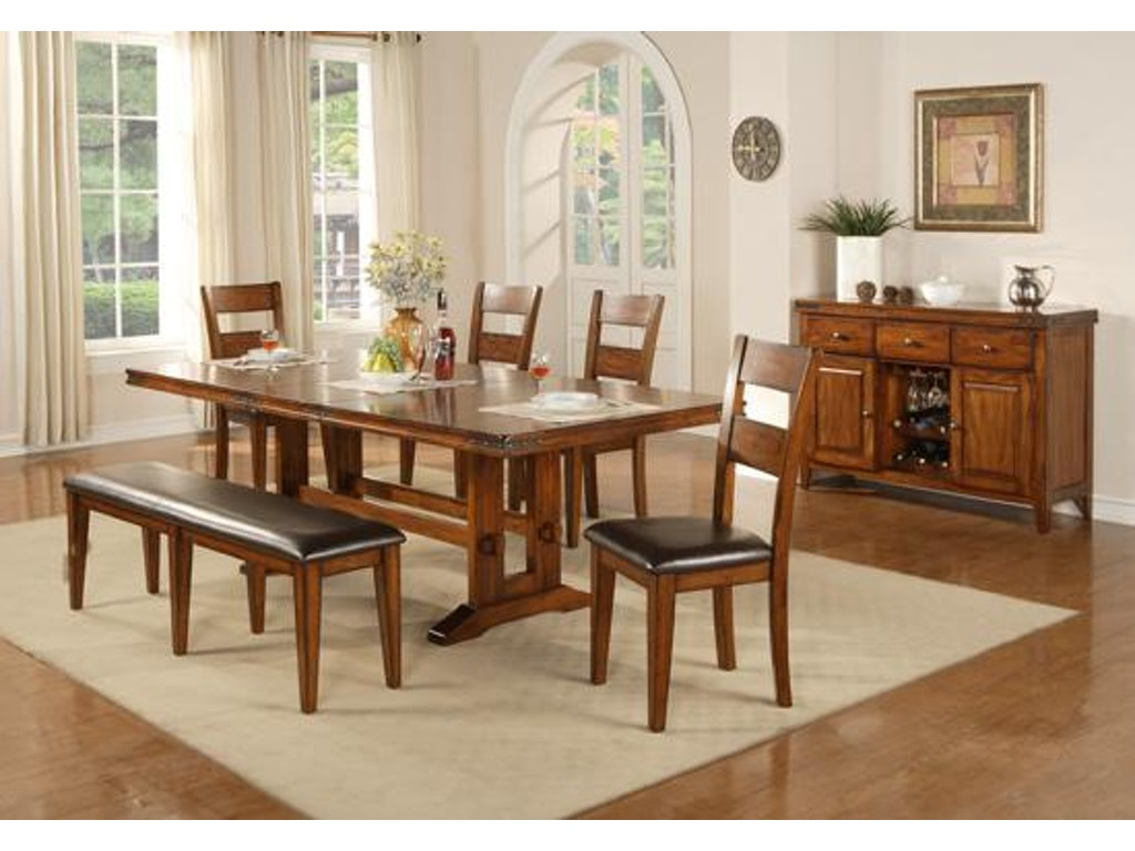 Winners only dining room 92 inches mango trestle table for Only dining table online