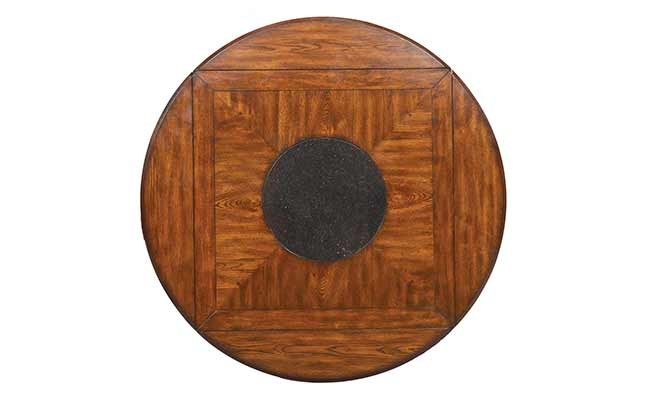 Winners Only 42 Inches Mission Tall Square Table To 60 Inches Round With  Granite Lazy Susan