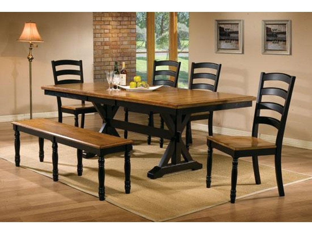 Winners only dining room 84 inches quails run table for Only dining table online