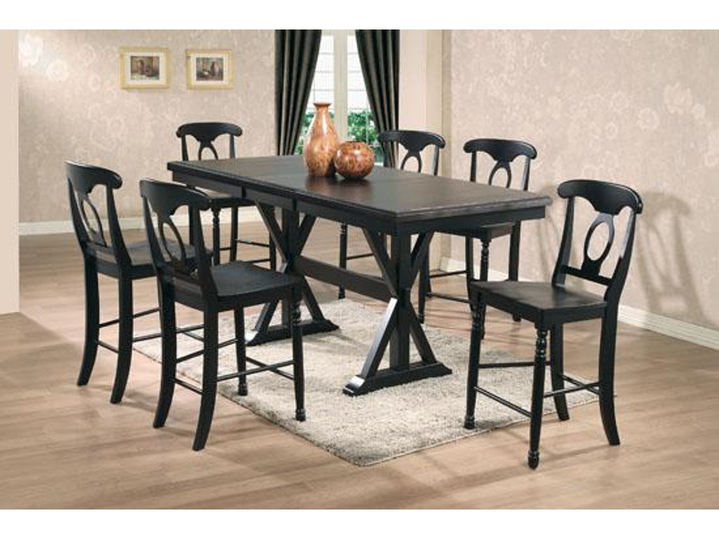 Winners only dining room 78 inches quails run tall table for Only dining table online