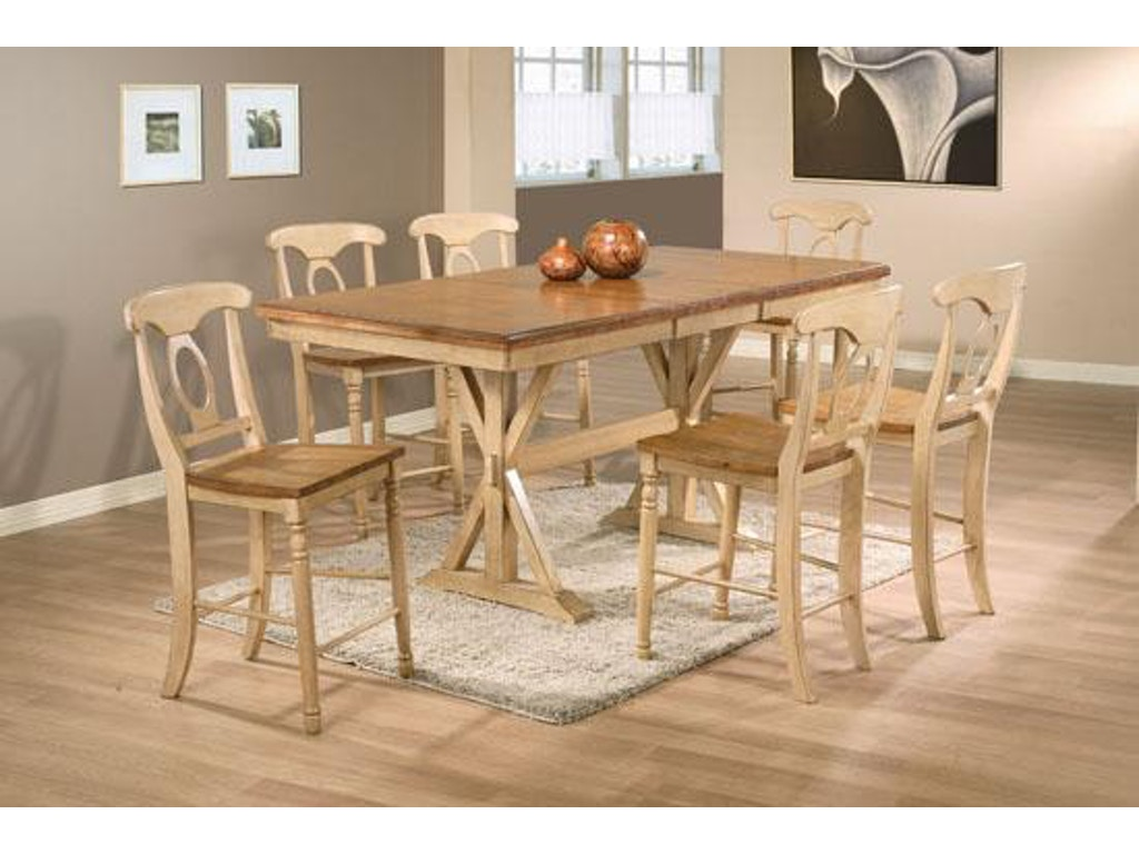 winners only dining room 78 inches quails run tall table