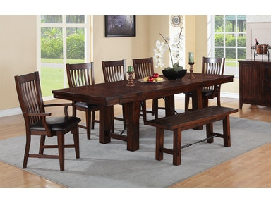 Winners Only 102 Inches Pedestal Table With 2-12 Inches Leaves DR142100