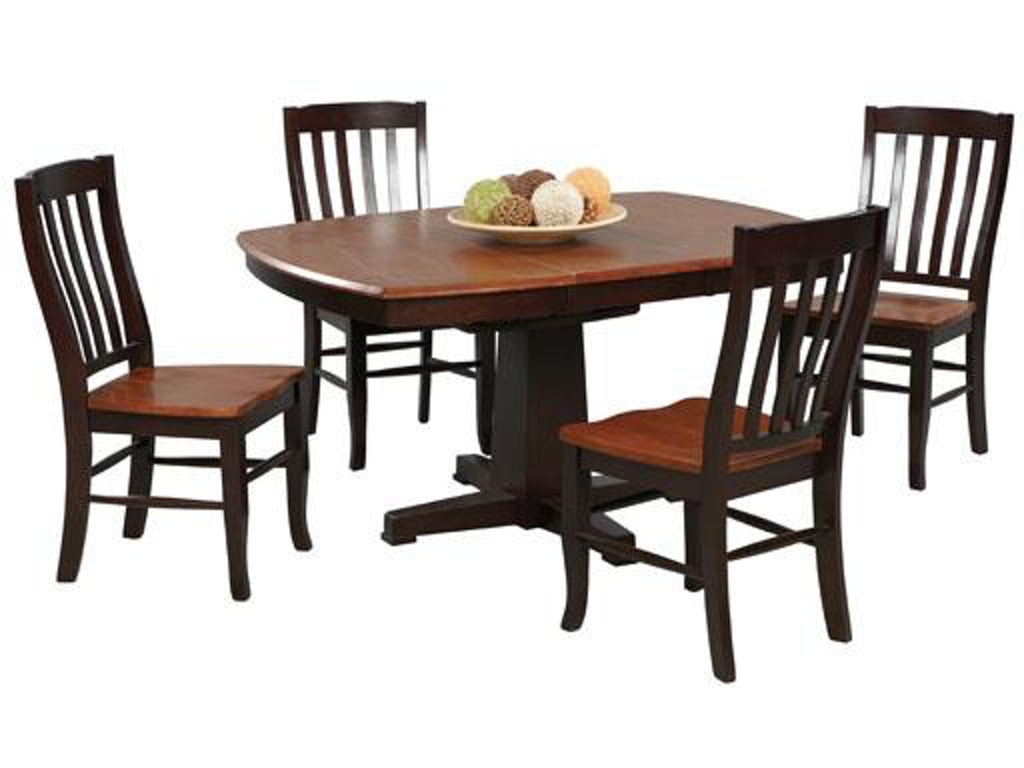 Winners only dining room 57 inches santa fe pedestal table for Dining room table only