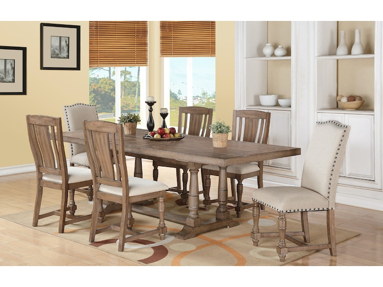 Winners Only 96 Inches Trestle Table With 20 Leaf DX14296G