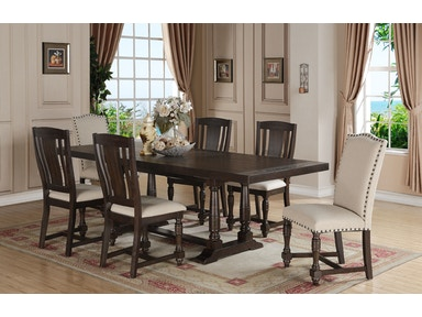 Winners Only Dining Room 96 Inches Trestle Table With 20 Inches Leaf