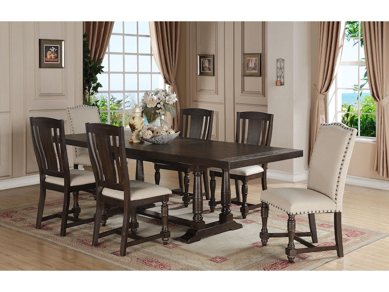 Winners Only 96 Inches Trestle Table With 20 Leaf DX14296X