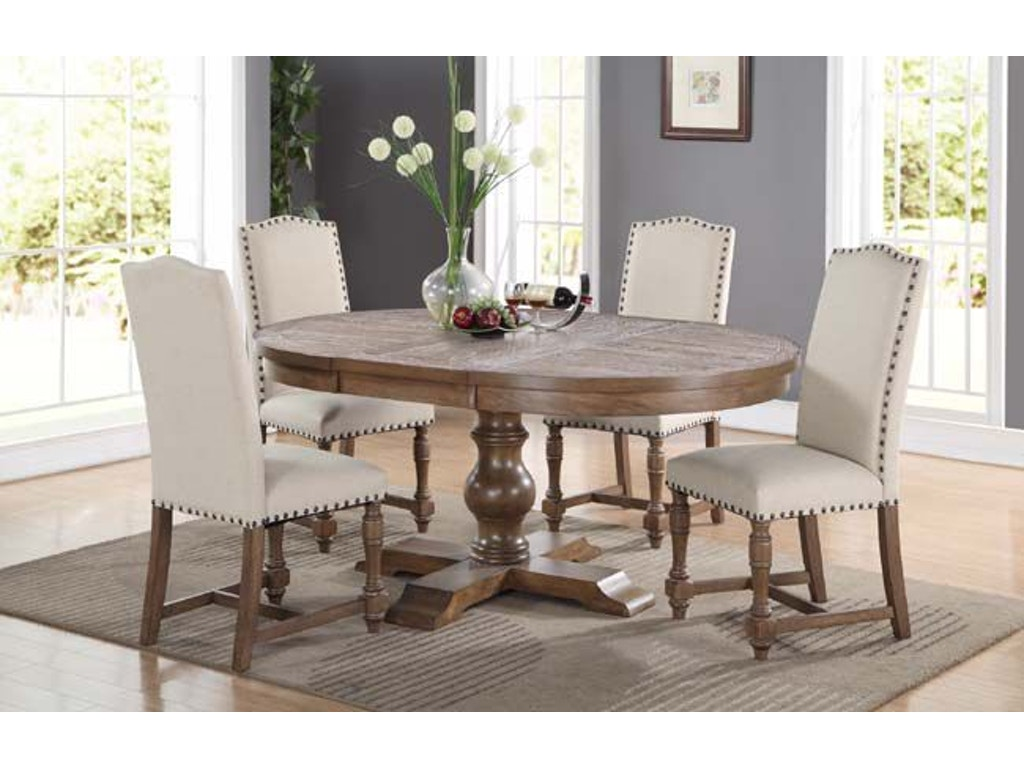 Winners Only Dining Room 66 Inches Pedestal Table With 18