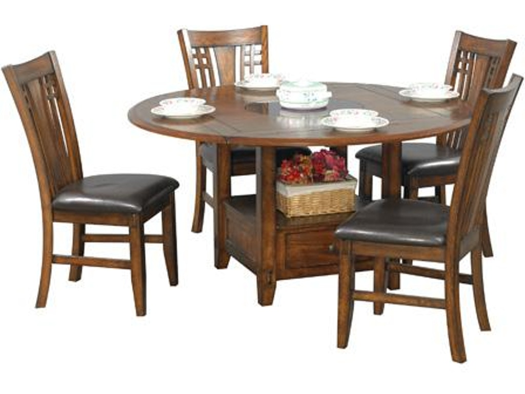 dining room tables with lazy susan | Winners Only Dining Room 42 Inches Square To Round Table ...