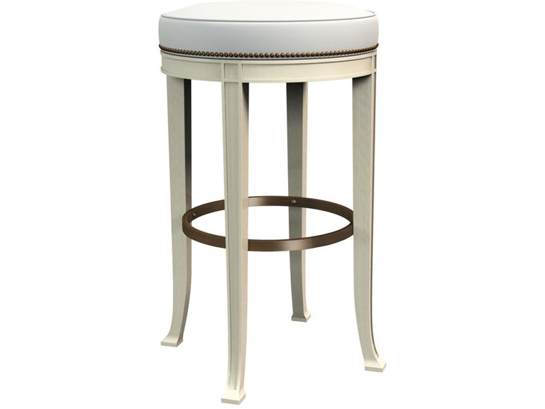 hickory chair dining room newbury swivel backless bar stool 138 04