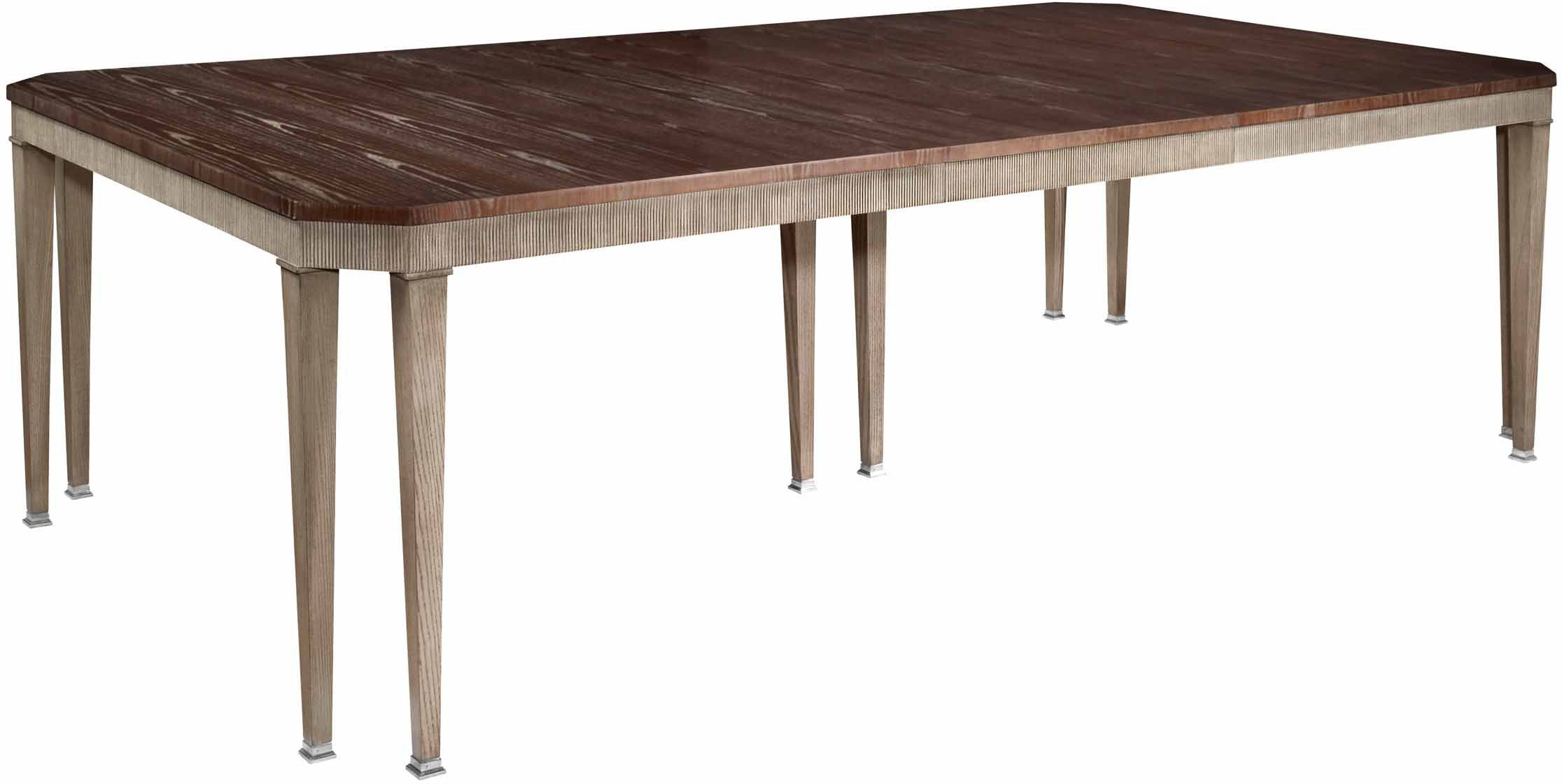 Hickory Chair Dining Room Artisan Chamfered Corner Dining Table - Ash  HKC14010 Walter E. Smithe Furniture + Design