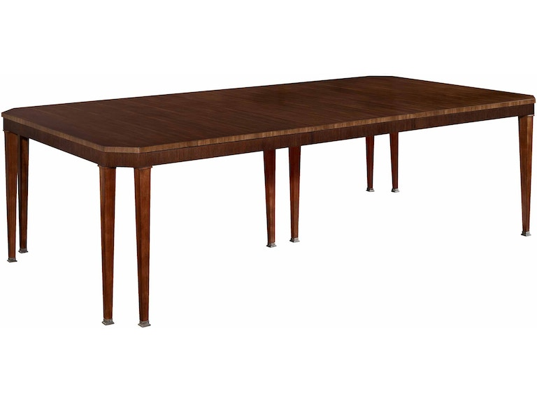 Hickory Chair Dining Room Artisan Chamfered Corner Dining Table - Mahogany  HKC14071 Walter E. Smithe Furniture + Design