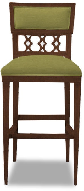Hickory Chair Dining Room Ilsa Bar Stool Figure 8 Back