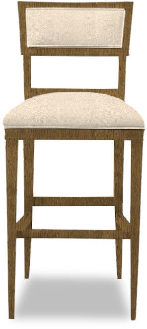 Hickory Chair Dining Room Ilsa Bar Stool Open Back Panel
