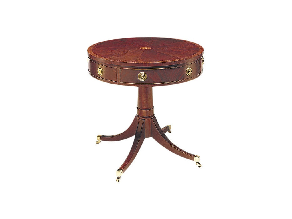 hickory chair living room pedestal drum table 553 88 gorman 39 s