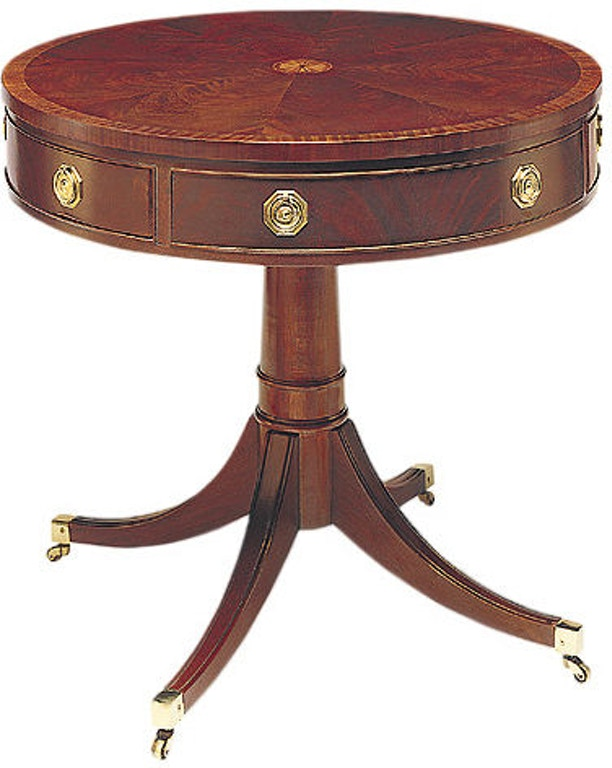 Hickory Chair Living Room Pedestal Drum Table 553 88