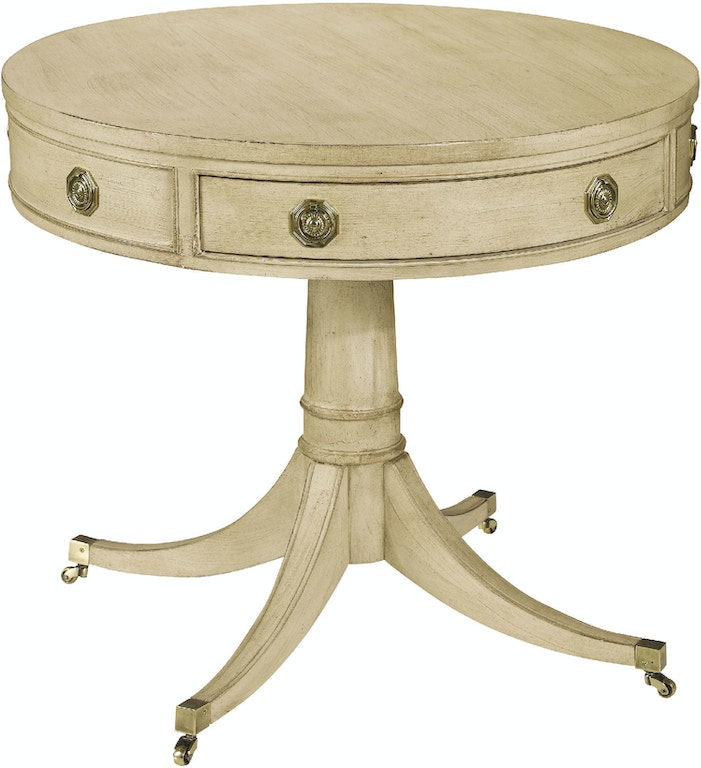 Hickory Chair Living Room Pedestal Drum Table 553-70 ...