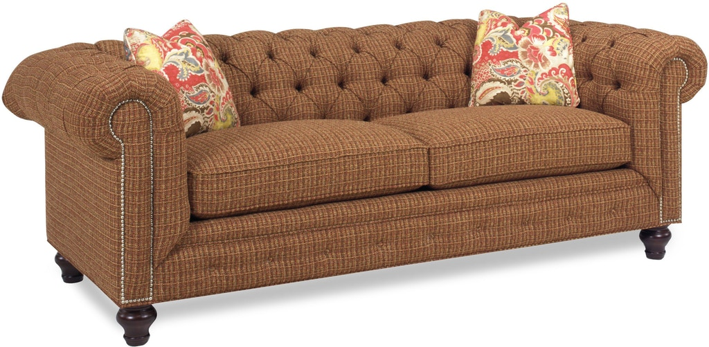 Lake Hickory Living Room Chesterfield Sofa 7500 86