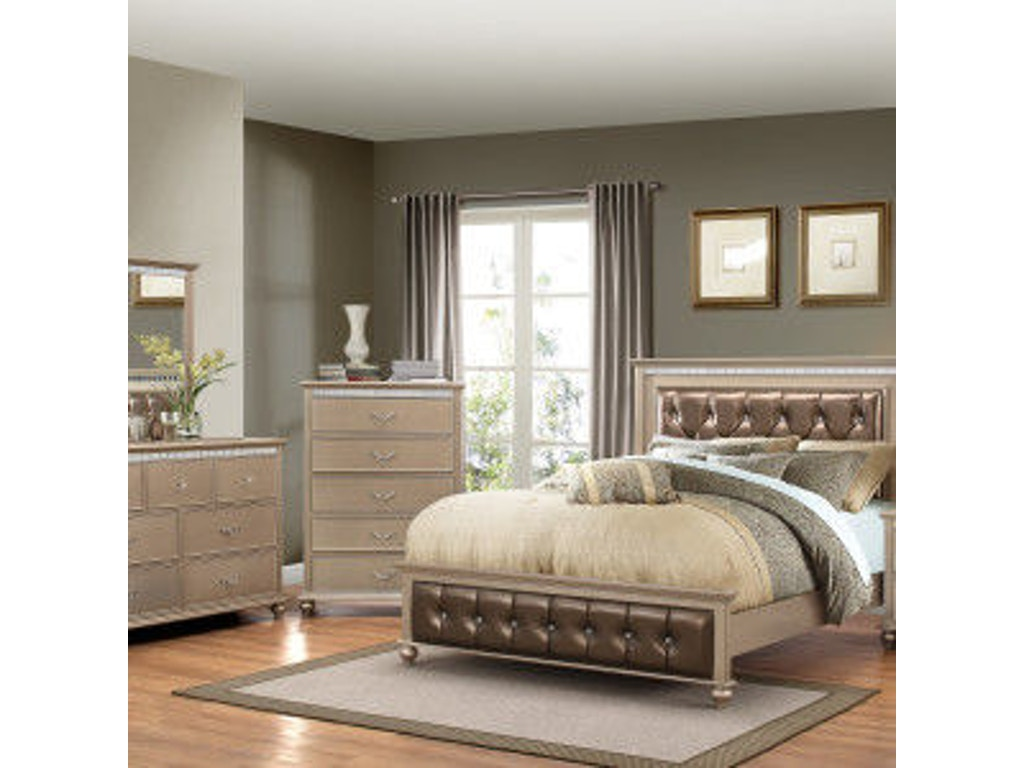 Simmons Upholstery Casegoods Bedroom 1008 Queen Headboard Footboard China Towne Furniture