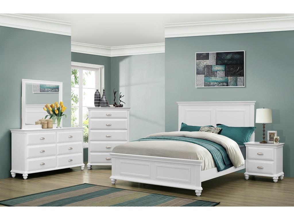 Simmons Upholstery Casegoods Bedroom 1009 Queen Headboard Footboard China Towne Furniture