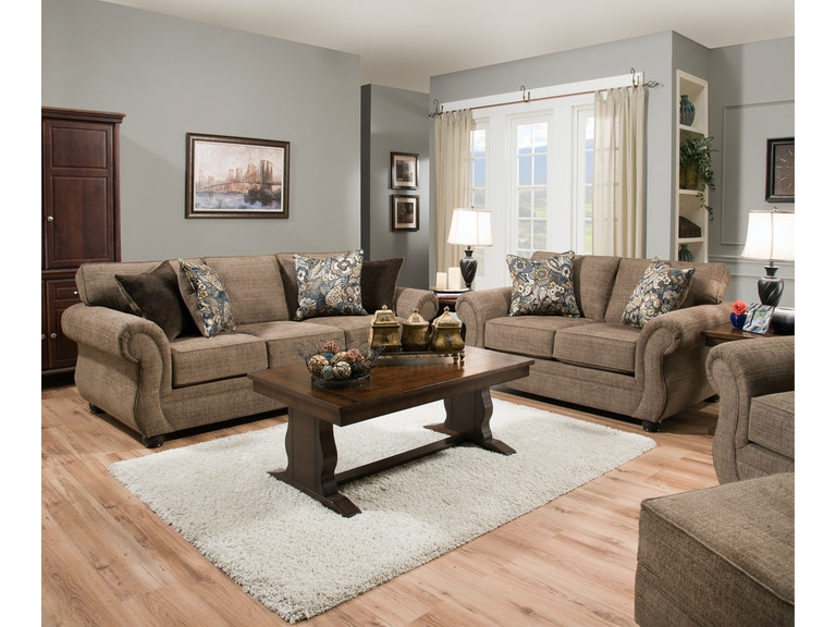 Simmons Upholstery Casegoods 4250 Br Sofa