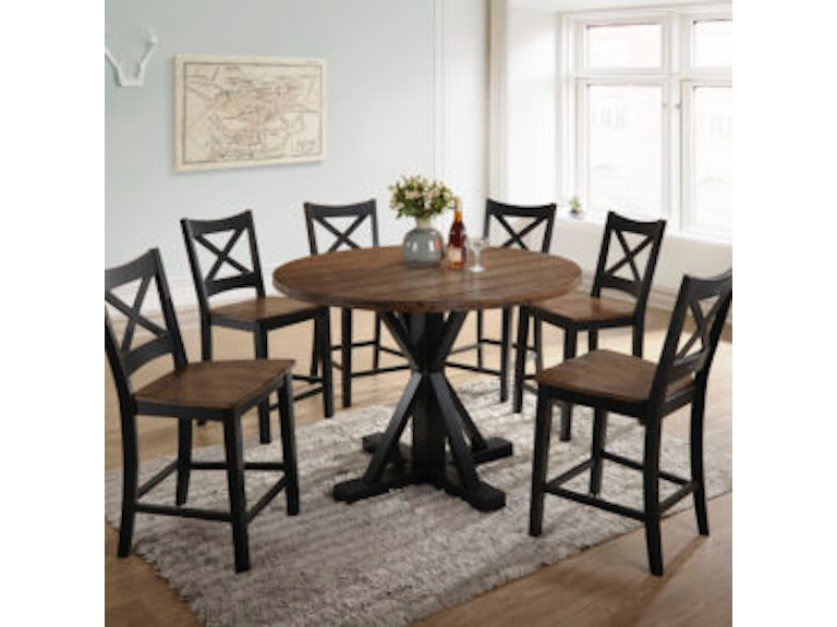 Simmons Upholstery Casegoods 5015 72 Dining Table Set Round