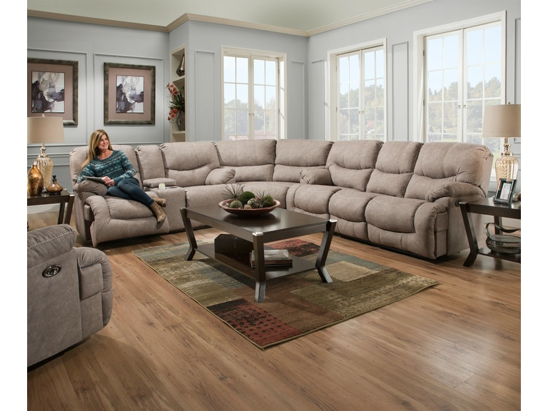 Simmons Upholstery & Casegoods Living Room 50455-BR-Sectional 50455 ...