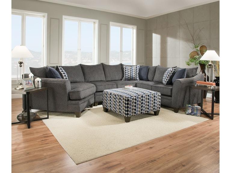 Simmons Upholstery Casegoods Living Room 6485 Sectional Davis