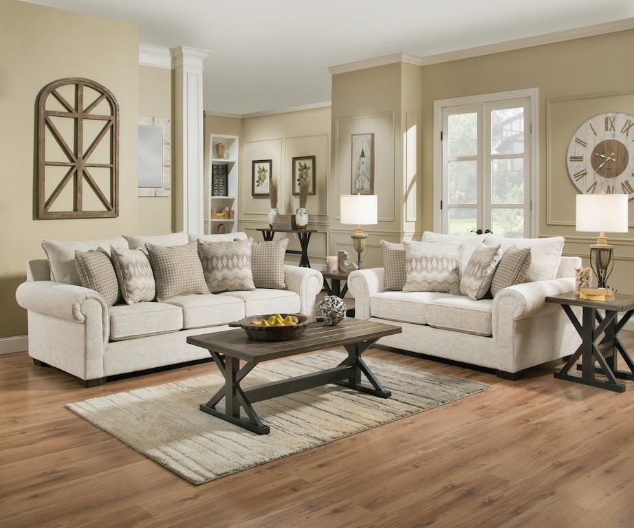 Simmons Upholstery & Casegoods Living Room 7592BR-Sofa ...