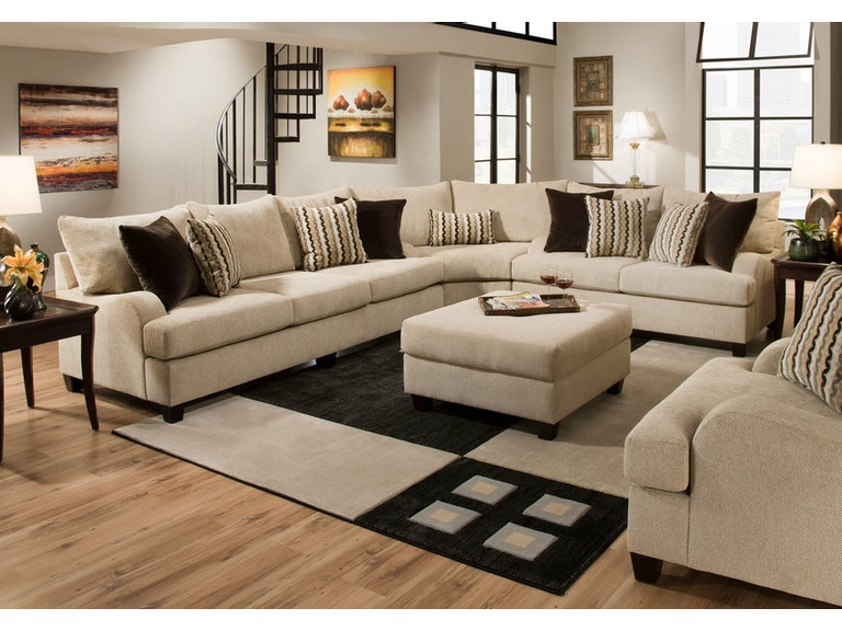 Simmons Upholstery Casegoods Living Room 8520 Wedge Furniture