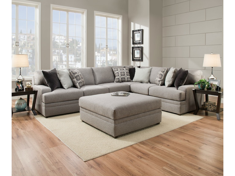Simmons Upholstery Casegoods Living Room 8560 Sectional 8560 Br