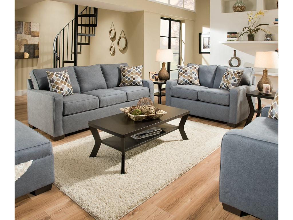 Simmons upholstery casegoods living room 9025 loveseat for Affordable furniture upholstery