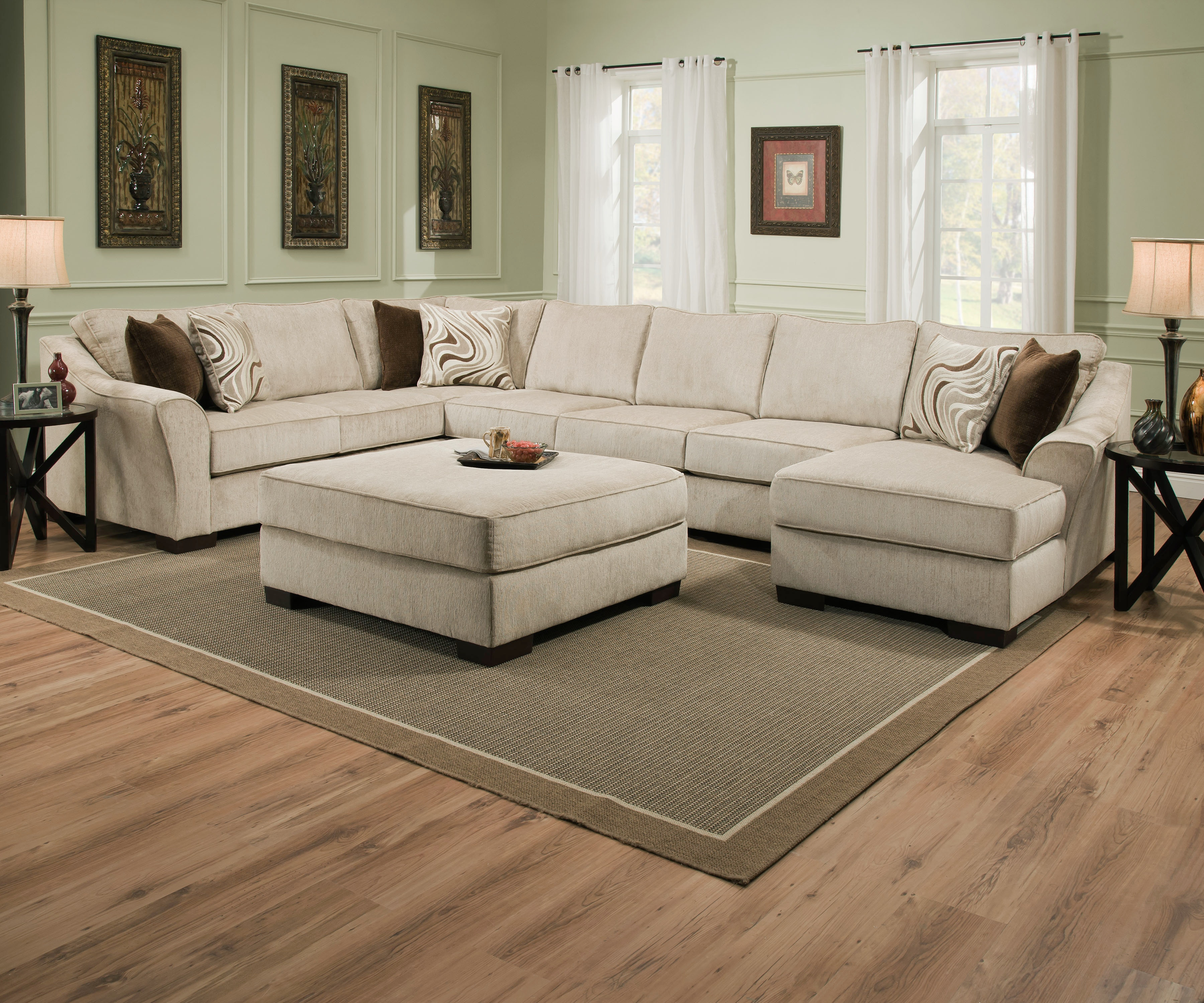 Exceptionnel Simmons Upholstery U0026 Casegoods 9355BR LAF Bump Sofa