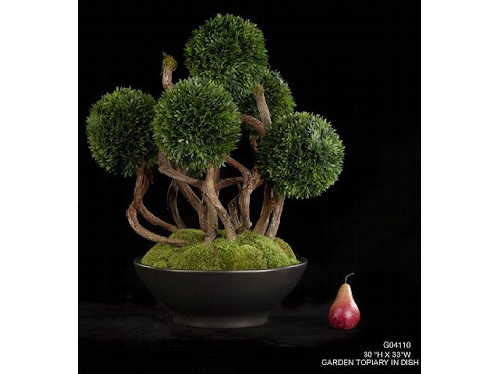 Tree Masters Accessories Garden Topiary In Dish G04110 Nehligs