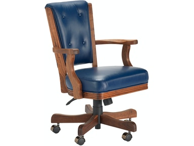 Darafeev High Back Walnut Game Chair 860-HB-GC