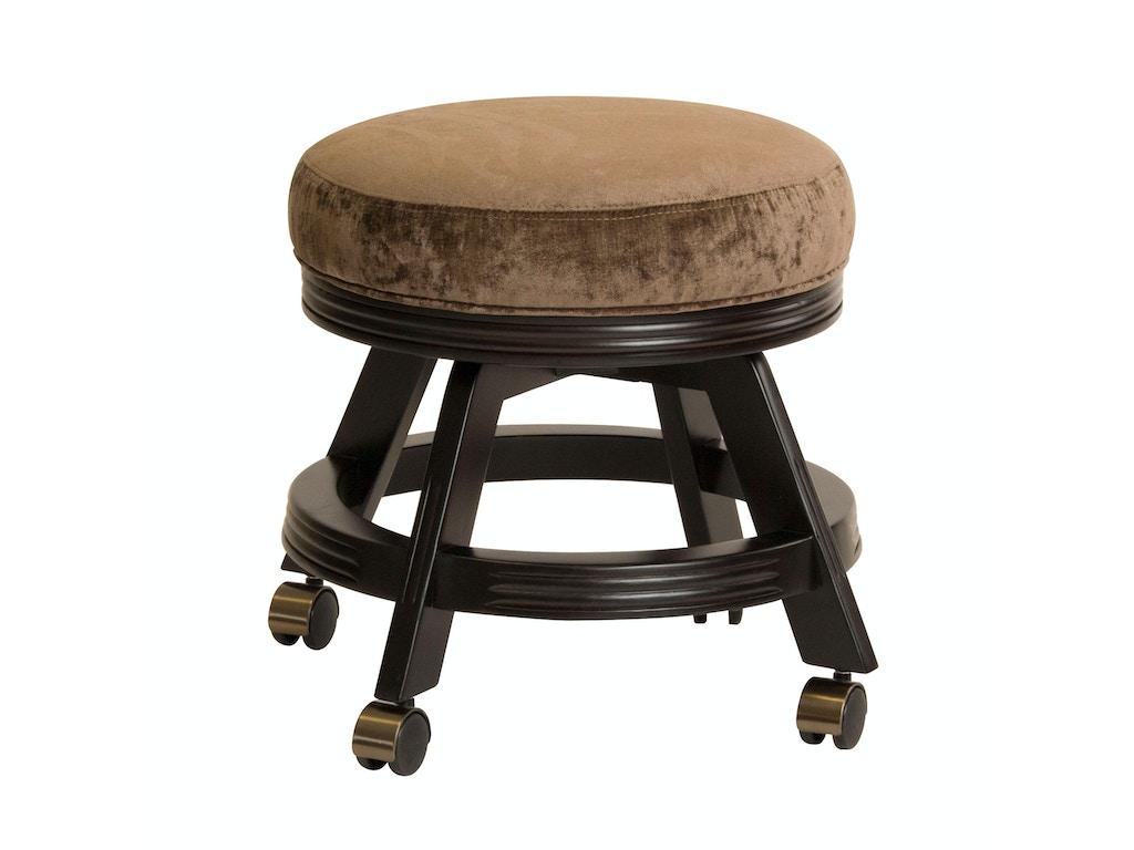 Darafeev vanity stool with casters 938 18c - Bathroom vanity chair with casters ...