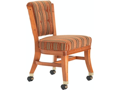 Darafeev Armless Club Chair with Casters 960-4LCA